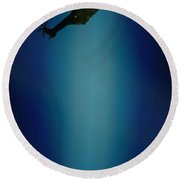 Helicopter Blues Round Beach Towel