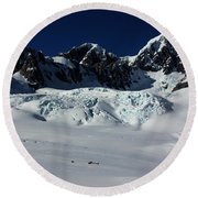 Helicopter New Zealand  Round Beach Towel