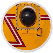 Helicopter Porthole Window Mirrors Rotor Blade Round Beach Towel