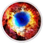 Helix Nebula Round Beach Towel by Dan Sproul
