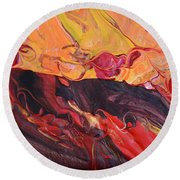 Hell-bent Round Beach Towel