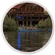 Hellgate Excursions At Taprock 2 Round Beach Towel