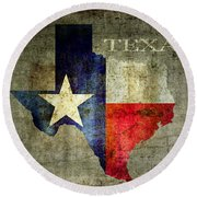 Hello Texas Round Beach Towel