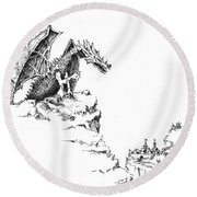 Hello There Round Beach Towel by Sam Sidders