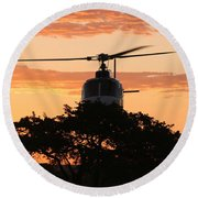 Hello Tree Round Beach Towel