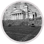 Helsinki Cathedral Round Beach Towel