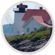 Hendricks Head Lighthouse Round Beach Towel