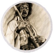 Hendrix-antique Tint Version Round Beach Towel