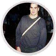 Henry Rollins 1991 Round Beach Towel
