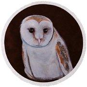Henry The Owl Round Beach Towel
