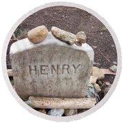 Henry Thoreau Round Beach Towel