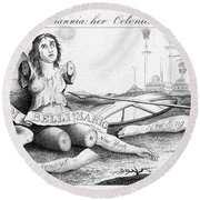 Her Colonies Reduced Round Beach Towel