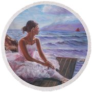 Her Dream Round Beach Towel