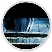 Her Watery Grave Round Beach Towel
