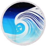 Her Wave Round Beach Towel