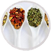Herbal Teas Round Beach Towel