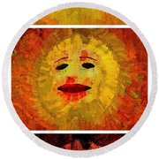 Here Come The Suns Vertical Round Beach Towel