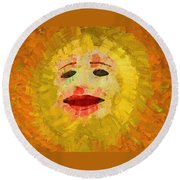 Here Comes The Sun One Round Beach Towel