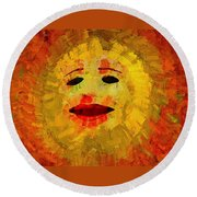 Here Comes The Sun Two Round Beach Towel