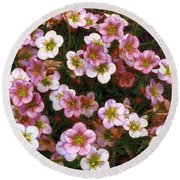 Here's Flowers For You Round Beach Towel