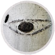 Here's Looking At You Round Beach Towel