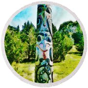 Here's Looking At You Kid Round Beach Towel