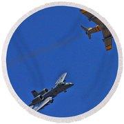 Heritage Flight A-10 F-86 Round Beach Towel
