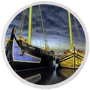 Heritage In Mirrored Water Round Beach Towel