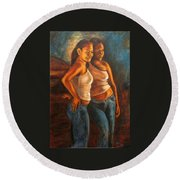 Hermanas Round Beach Towel