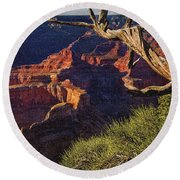 Hermit Rest Grand Canyon National Park Round Beach Towel