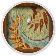 Hermitage Abstract Swirl  Round Beach Towel