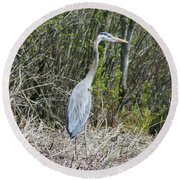 Heron Height Round Beach Towel