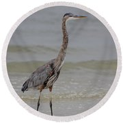 Heron Round Beach Towel
