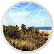 Herring Point Round Beach Towel