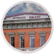 Heywoods Heywood Building In Old Sacramento California Round Beach Towel