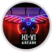Hi-vi Arcade Round Beach Towel