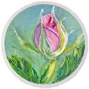 Hibiscus Blossom Round Beach Towel