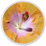 Hibiscus Center Round Beach Towel