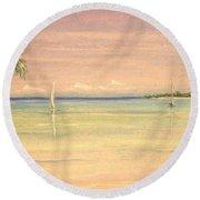 Hibiscus Cove Round Beach Towel by The Beach  Dreamer