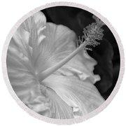 Hibiscus Profile Round Beach Towel