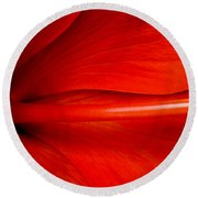 Hibiscus Red Round Beach Towel