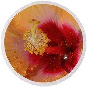 Hibiscus Stamen IIi Round Beach Towel