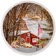 Hickory Lake Woodworks Round Beach Towel