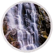 Hickory Nut Falls Round Beach Towel