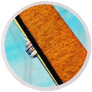 Hidden And Falling Tiled Version Round Beach Towel