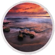 Hidden By The Tides Round Beach Towel