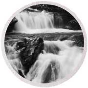 Hidden Falls Sheep River 1 Round Beach Towel