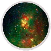Hidden Nebula 2 Round Beach Towel by Jennifer Rondinelli Reilly - Fine Art Photography