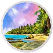 Hidden Paradise Round Beach Towel