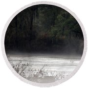 Hidden Places-beyond The Water Round Beach Towel